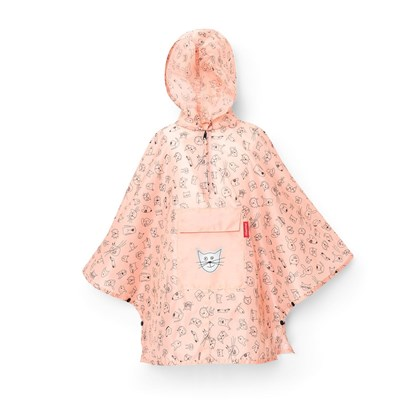 Skládací pláštěnka Mini Maxi Poncho M kids cats and dogs rose_2